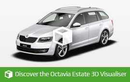 Discover the new 3D Octavia Estate Visulaiser