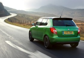 KODA Fabia vRS on road