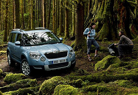 ŠKODA Yeti in a forest